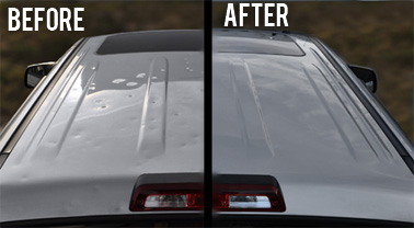 HAIL REPAIR can removal 99.9% of any trace of the damage!